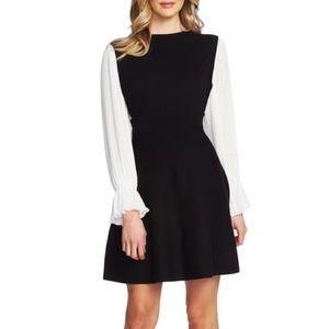 Cece Long Sleeve Fit & Flare Sweater Dress